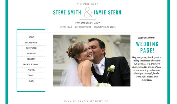 Wedding website trends wedding website trends junglespirit Images