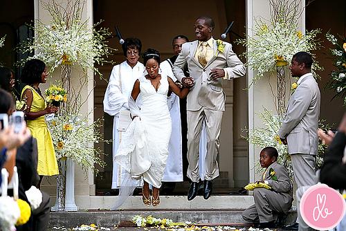Broom Jumping in an African-American Wedding