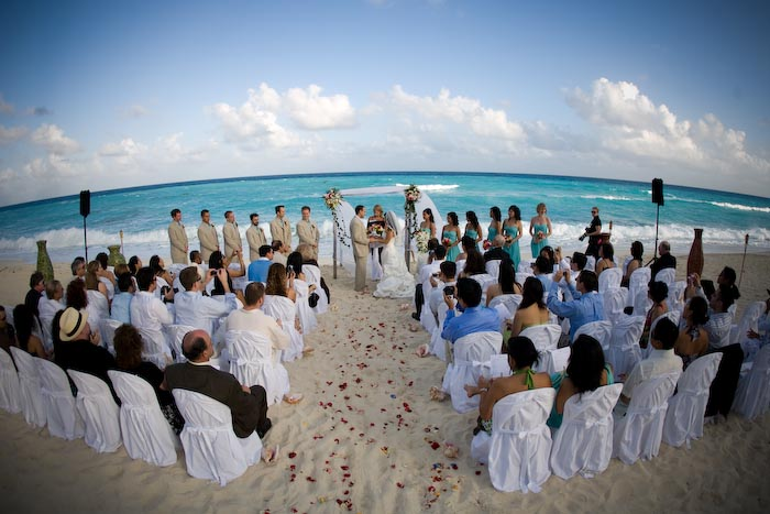 The most popular destinations for a Mexico wedding are Riviera Maya Cancun