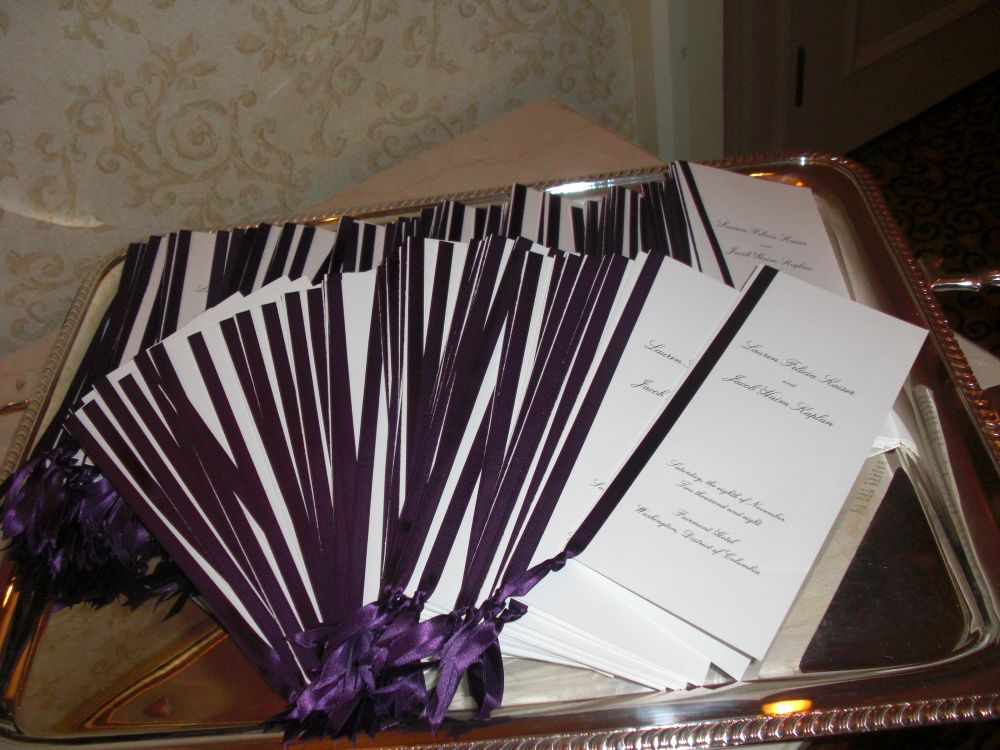 Because wedding programs can come in unusual shapes sizes and colors