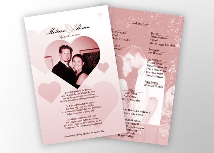 Your wedding program is an opportunity to tell guests a little more about